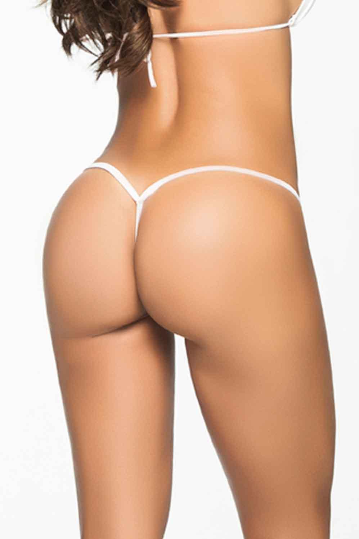 AIS Mapale White Y-Back Thong 1048